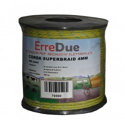 Corda Superbraid 4mm - 6 Inox 0,16 + 2 rame 0,25 - 0,16 Ohms/m - 200 metri