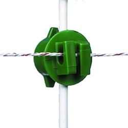 Isolatore Gallagher verde per picchetto tondo Ø 6-14mm