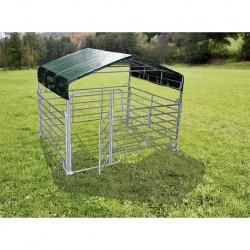 Stalletta mobile in ferro zincato - con tettoia