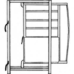 Telaio con cancello scorrevole 70 cm