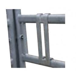Sistema di bloccaggio per cancello trattamenti