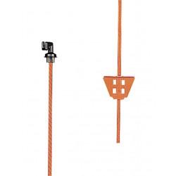 Picchetto in acciaio arancione 1,05 mt